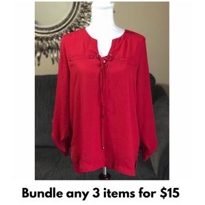My Michelle Tunic Style Top Red